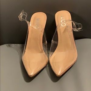 Ego Official Clear Behind-The-Heel Strapped Heel